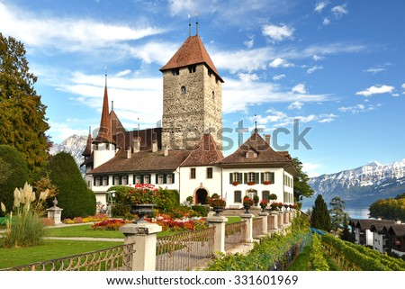 Spiez Castle, Switzerland - stock photo