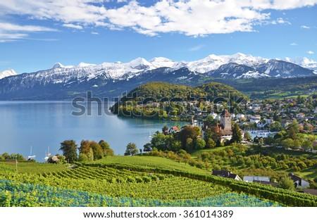 Spiez Castle, Switzerland - stock photo