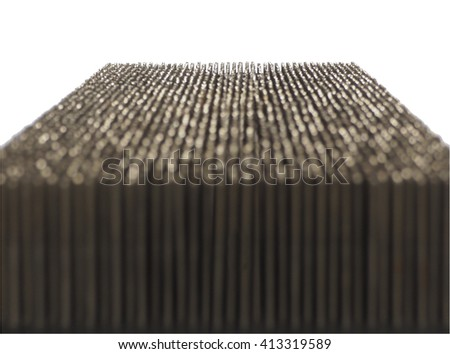 Spike nails isolated in white  - stock photo