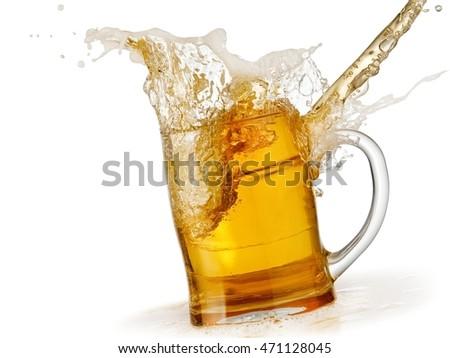 Spill from a beer mug