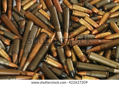 Spilled ammunition for firearms