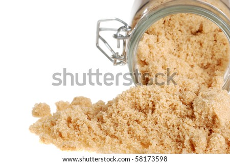 spilled brown sugar - stock photo