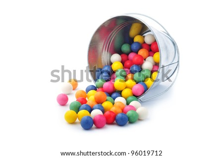 Spilled colorful candy - stock photo