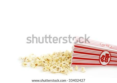 Spilled Popcorn - stock photo