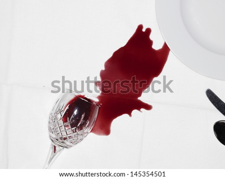 Spilled Wine - stock photo