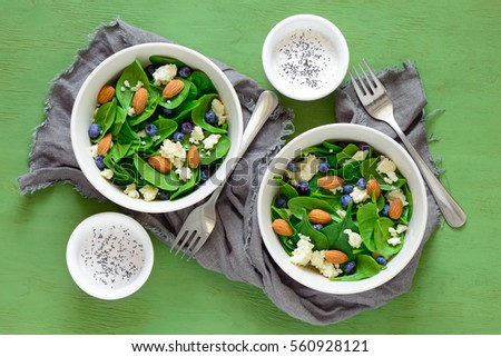 goat cheese salad served in bowls with yogurt and poppy seed dressing ...