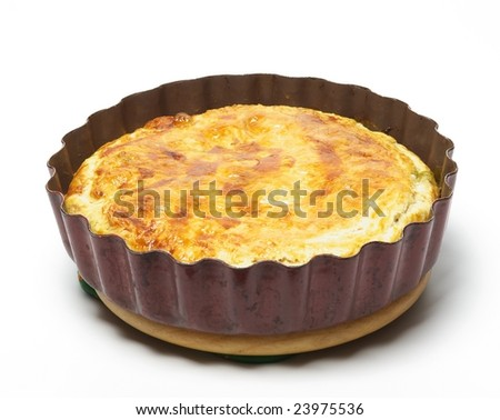 Spinach and cheese pie - stock photo