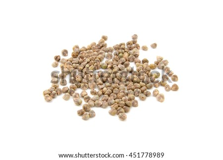 Spinach seeds, isolated on a white background - stock photo