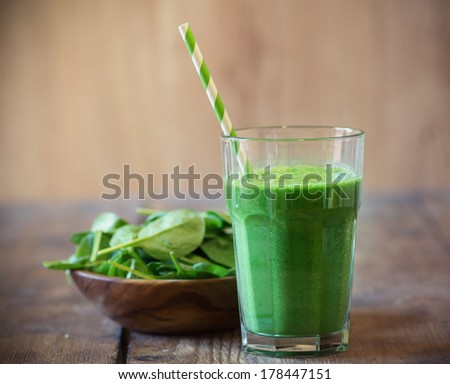 Spinach smoothie - stock photo