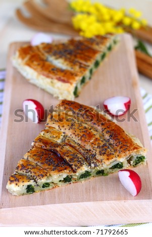 Spinach tart with ricotta cheese