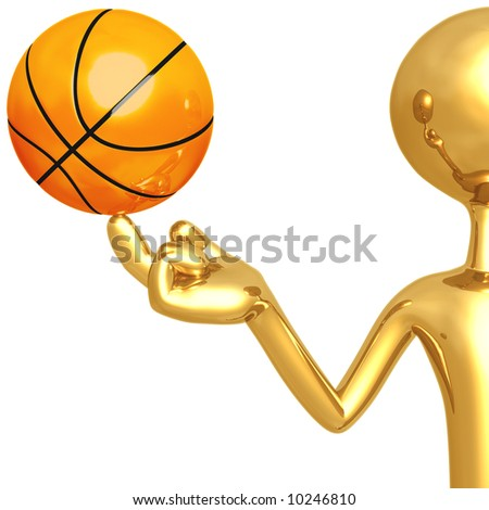 Spinning Basketball - stock photo