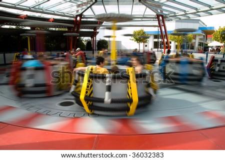 Spinning Carousel - stock photo