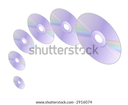Spinning CDs - stock photo