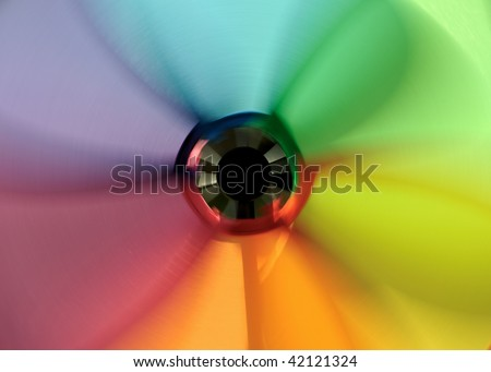 Spinning Pinwheel Colors