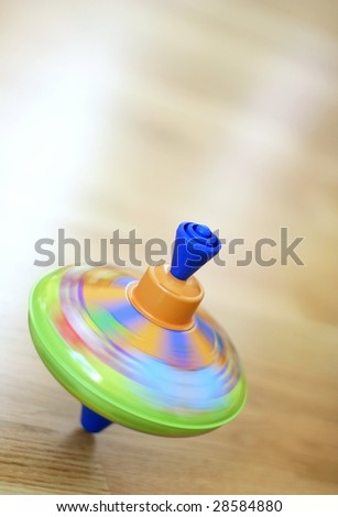 Spinning top - stock photo