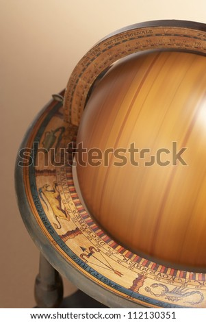 Spinning wooden globe