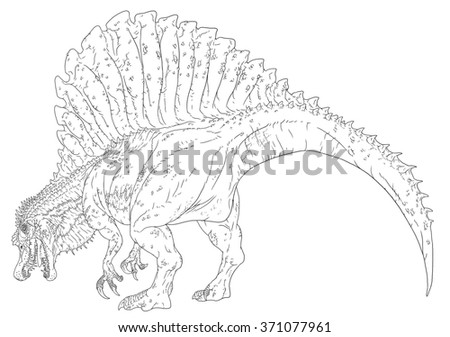 Drawing spinosaurus coloring pages get sketch coloring page for Carcharodontosaurus coloring page