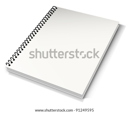 Spiral binder. Note pad with white - stock photo