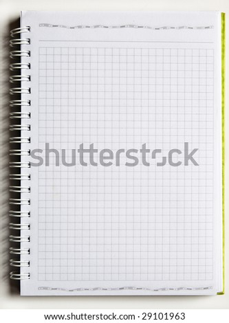 spiral binding notebook on white