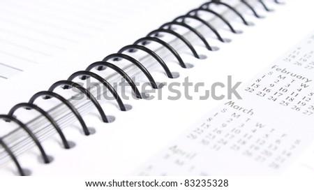 Spiral bound note book - stock photo