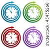 Spiral clock icon set isolated on a white background. - stock vector