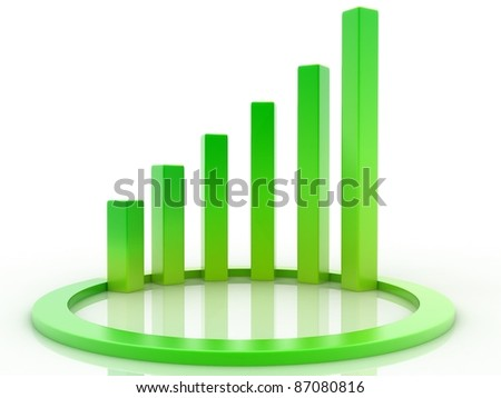 Spiral 3D graph - stock photo