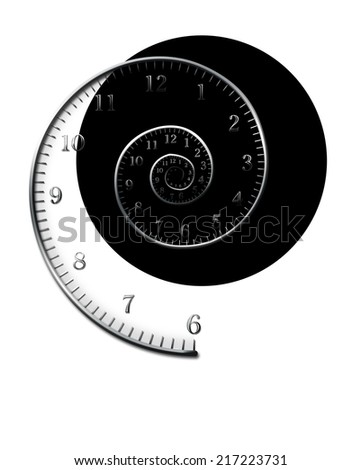 spiral for clock - stock photo