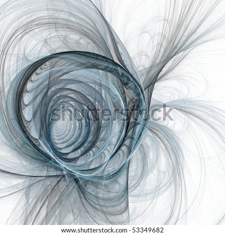 Spiral fractal - stock photo