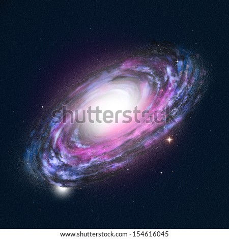 Spiral Galaxy - high detailed illustration  - stock photo