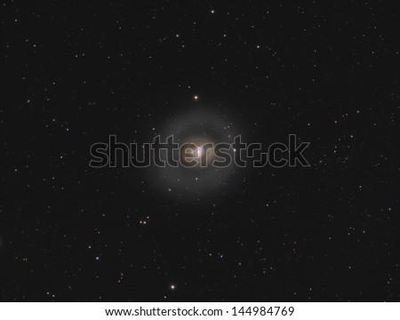 Spiral Galaxy Messier 94 - A spiral galaxy about 16 million light years away in the constellation Canes Venatici - stock photo