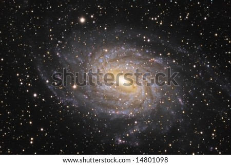 Spiral Galaxy NGC 6744 - stock photo
