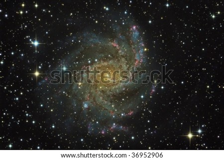 Spiral Galaxy NGC6946 - stock photo