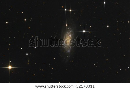 Spiral Galaxy NGC6015 - stock photo