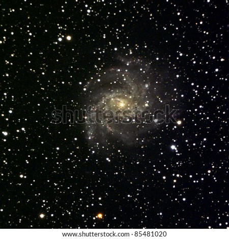 Spiral Galaxy NGC 6946 in the constellation Cepheus - stock photo