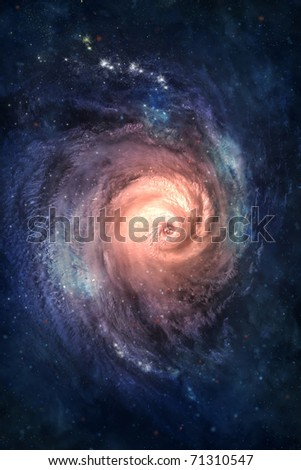 Spiral galaxy. Somewhere in deep space. - stock photo