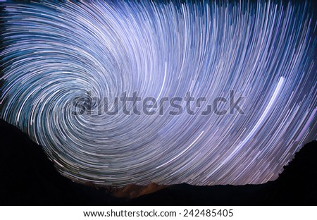 Spiral in the mountains - stock photo