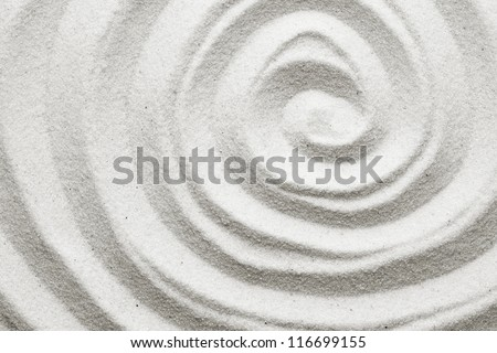 Spiral in the sand - stock photo