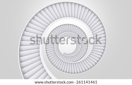 Spiral Ladder - stock photo