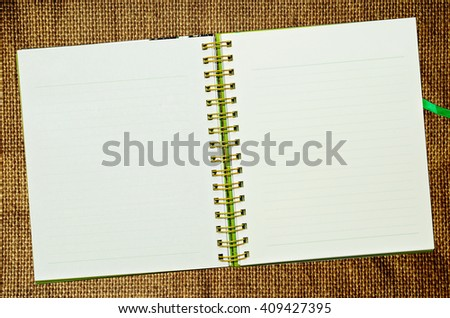 Spiral leather notebook - stock photo