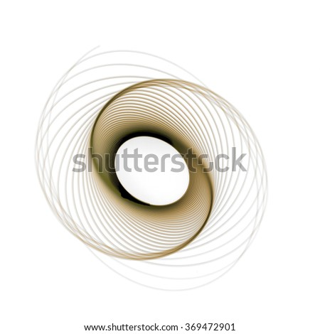 spiral light painting in black background - stock photo