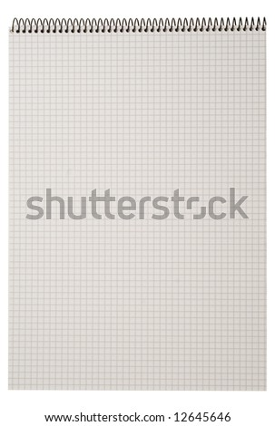 spiral notebook isolated on white