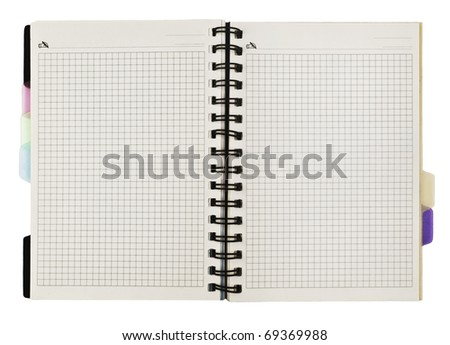 spiral notebook isolated on white - stock photo