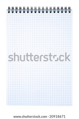 Spiral notebook isolated with clipping path over white background - stock photo