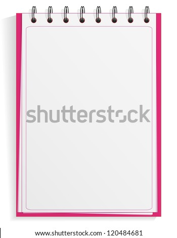 Spiral notebook with blanl space, jpeg version - stock photo