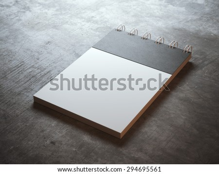 Spiral notepad  - stock photo