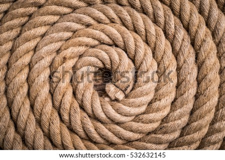 spiral of hemp rope - origination concept