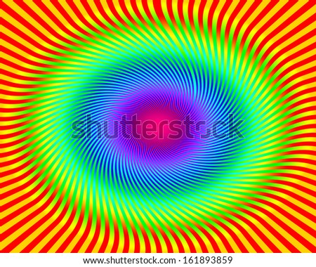 Spiral Rainbow Background - stock photo