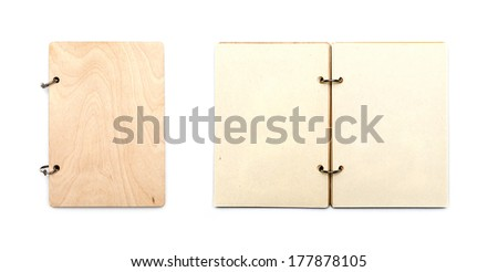 spiral sketching book isolated on white background - stock photo