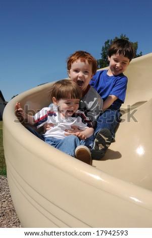 Spiral slide vertical - stock photo