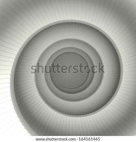 Spiral stair 3D render - stock photo